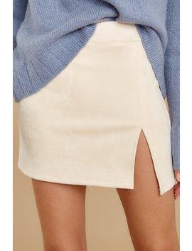 Rising High Cream Skirt by Skylar Madison