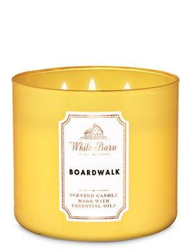White Barn   Boardwalk   3 Wick Candle    by White Barn