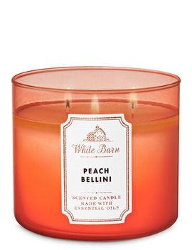 White Barn   Peach Bellini   3 Wick Candle    by White Barn