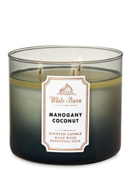 White Barn   Mahogany Coconut   3 Wick Candle    by White Barn