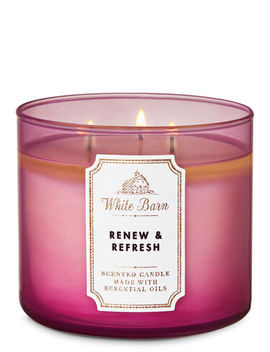 White Barn   Renew & Refresh   3 Wick Candle    by White Barn