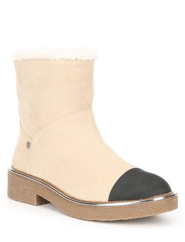 Fay Suede Platform Booties by Dkny