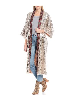 Light Is Coming Floral Embroidery &Amp; Sequin Embellished Duster by Free People