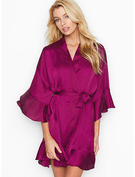 Flounce Satin Kimono by Victoria's Secret