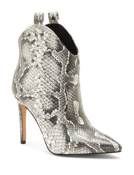 Pixille Snake Print Western Booties by Jessica Simpson