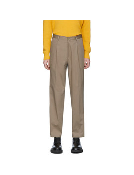 Beige Relaxed Fit Trousers by Etro
