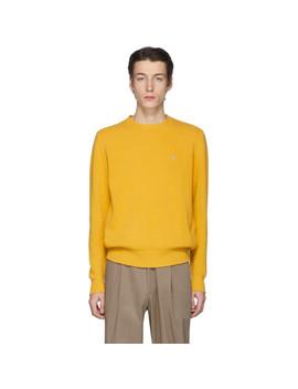 Yellow Wool Crewneck Sweater by Etro