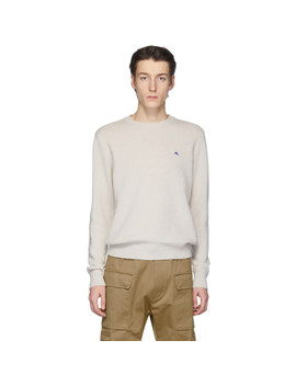 Off White Wool Crewneck Sweater by Etro