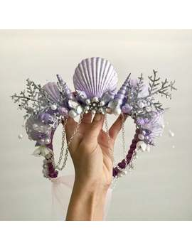 Adult/Child Mermaid Crown (Winter Lilac) by Etsy