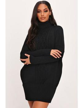 Cable Front Roll Neck Jumper Dress by I Saw It First
