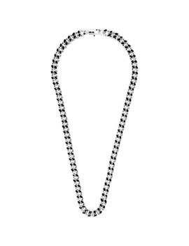 Silver & Black Marius Necklace by A.P.C.