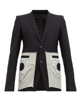 Pocket Detail Canvas Blazer by Rick Owens