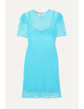 + Net Sustain Take It Back Knotted Silk Organza Mini Dress by Maggie Marilyn