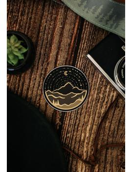 Mountain Adventure Sticker | Laptop Vinyl Decal | Car Decal | Waterproof Water Bottle Sticker | Stars And Moon by Etsy