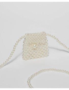 Pearl Beaded Envelope Mini Bag by Colette Hayman