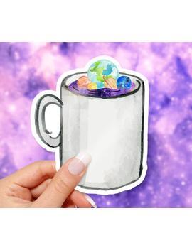 Galaxy Mug Sticker by Etsy