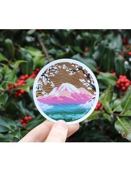 Mountain Sticker, Mount Baker, Bellingham Washington Painting, Laptop Bumper Sticker, Vinyl Decal by Etsy