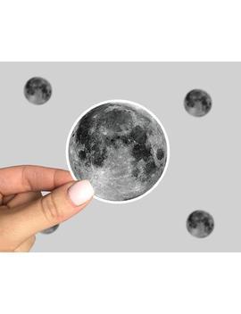Moon Sticker, Moon Laptop Sticker, Moon Car Sticker, Moon Yeti Sticker, Full Moon by Etsy