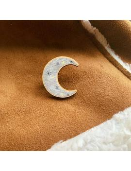 Crescent Moon Wooden Pin   Eco Friendly by Etsy