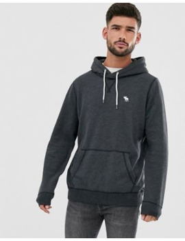 Abercrombie &Amp; Fitch Icon Logo Hoodie In Black by Abercrombie & Fitch