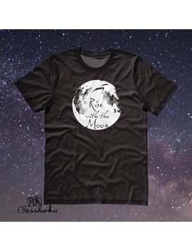 Moon Shirt Aesthetic Full Moon Tshirt Witchy Magick   Rise With The Moon   Womens Gothic Shirt Guys Vampire Clothing Soft Grunge Werewolf by Etsy