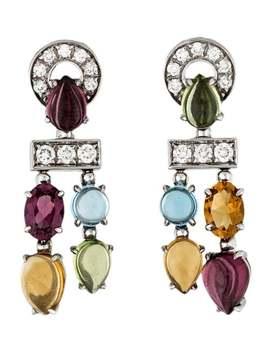 Multistone & Diamond Allegra Earrings by Bvlgari