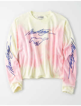 Ae Tie Dye Mustang Graphic T Shirt by American Eagle Outfitters