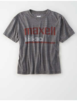 Tailgate Women's Maxell Cropped Graphic T Shirt by American Eagle Outfitters