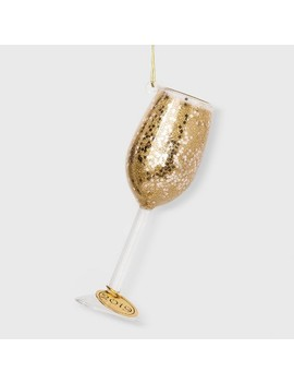 Glass Of Champagne Glass Christmas Ornament   Wondershop™ by Wondershop