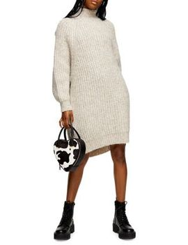 Knitted Mink Oversized Dress by Topshop