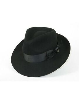 Mens Steven Land Dress Hat Australian Wool Fedora Teardrop Crown Florence Black by Ebay Seller