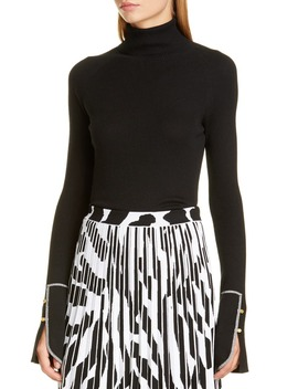 Rib Silk Blend Turtleneck Sweater by Proenza Schouler