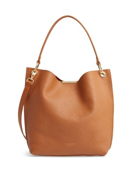 Helgesoft Leather Hobo Bag by Ted Baker London