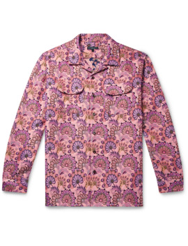 Camp Collar Floral Print Jacquard Shirt by Engineered Garments