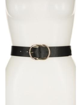 Metal Knot Buckle Belt by Linea Pelle