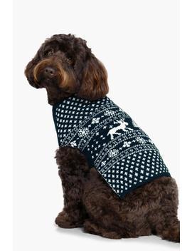 Fairisle Christmas Dog Sweater by Boohoo