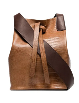 Mariene Lizard Effect Shoulder Bag by Rejina Pyo
