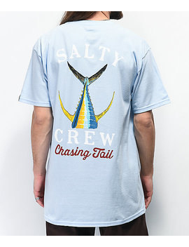 Salty Crew Tailed Light Blue T Shirt by Salty Crew