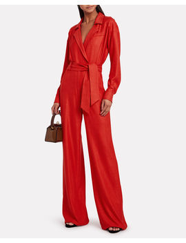 Lionel Tie Front Utility Jumpsuit by Veronica Beard