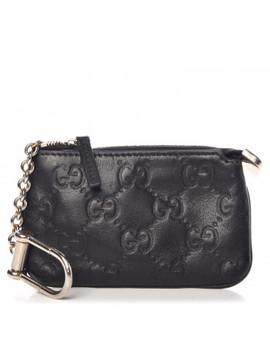 Gucci Guccissima Clip Key Case Black by Gucci