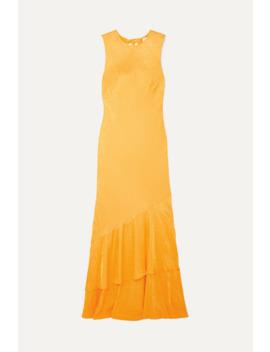 Isobella Satin Jacquard Maxi Dress by Rebecca Vallance