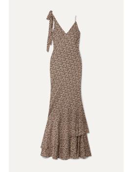 Ellie Floral Print Crepe Maxi Dress by Rebecca Vallance