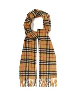 Vintage Check Brushed Cashmere Scarf by Burberry