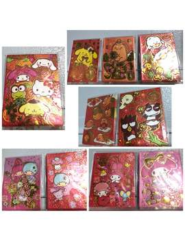 2017 Sanrio Chinese New Year Money Envelopes: Hello Kitty My Melody Little Twin Stars Cinnamoroll Pompompurin Badbadtzmaru Ahiru No Pekkle by Etsy