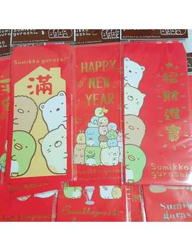 Free Shipping 4pcs Sumikko Gurashi Envelope Red Envelope Chinese New Year Envelope by Etsy