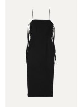Lace Up Cady Midi Dress by MatÉriel