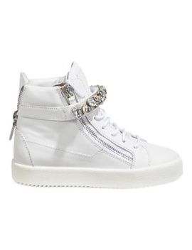 Crystal Wedge Platform Sneakers by Giuseppe Zanotti