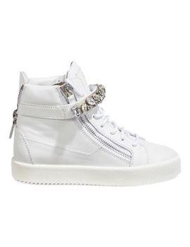 Crystal Wedge Platform Sneakers by Giuseppe Zanotti