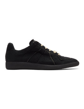 Black Hotel Replica Sneakers by Maison Margiela