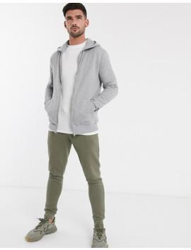 Asos Design Zip Up Hoodie 2 Pack Black / Gray Marl by Asos Design